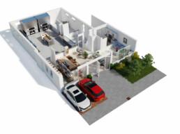 3D Plattegrond Woning